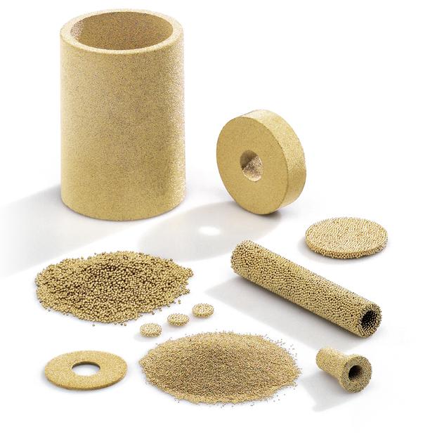 Filtri da polvere di bronzo sferico